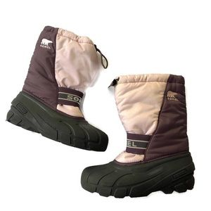 Sorel Winter Snow Boots Youth Size 5 Pink Berry